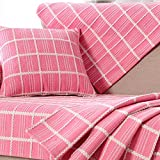 Sectional couch covers,Couch covers for 3 cushion couch Sofa slipcovers Sofa sers for living room Slipcovers for couches and loveseats-Pink striped 90x150cm(35x59inch)