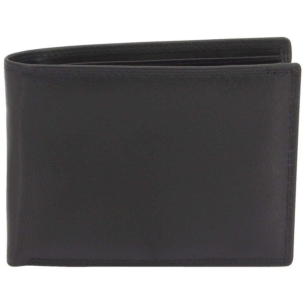 6e2043708acd0c Friedrich Lederwaren Geldbörse SLIM LINE Wasserbüffel Leder schwarz RFID  Schutz: Amazon.de: Bekleidung