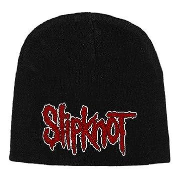 slipknot classic logo new official jersey black beanie hat  Amazon ... 2bcbc7f8c9d4