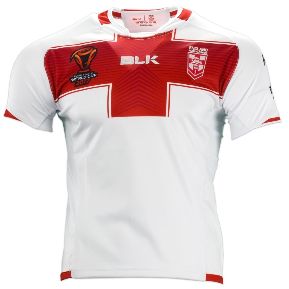 Official BLK England 2017 World Cup Junior Rugby Jersey Shirt ELJR760WHT
