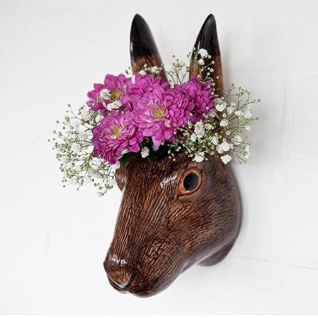 Quail Ceramics Hare Wall Vase Amazon Kitchen Home
