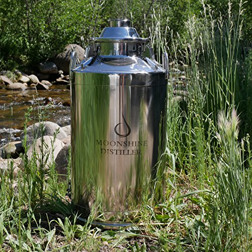 13 gallon stainless milk can - 8