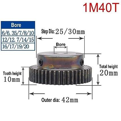High Precision 1 Mod 10T-150T Spur Gear 45# Steel Pinion Gear Step M4*2//M5*2
