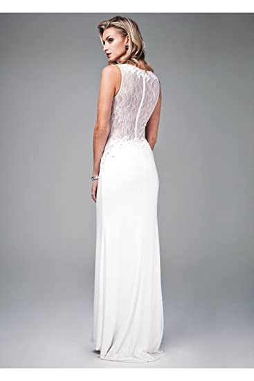 Mascara Ivory Lace Back Gown MC161045G UK 10 (US 6): Amazon.co.uk: Clothing