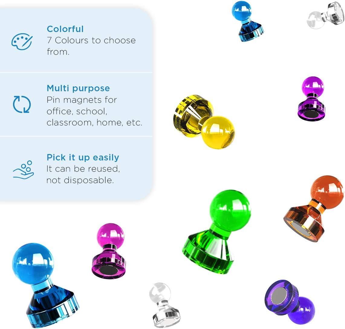 White Strong Push Pins ~ petits aimants en néodyme Skittles pour Noticeboard Réfrigérateur