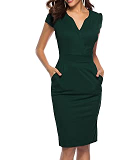 cc8684b5904 CEASIKERY Women s Business Retro Cocktail Pencil Wear to Work Office Casual  Dress