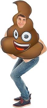 Generique - Disfraz Emoji Caca Adulto Única: Amazon.es: Juguetes ...