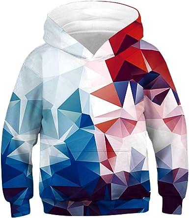 Leezeshaw Unisex Kids 3D Printed Novelty Hooded Sweatshirt Hoodie with Pocket