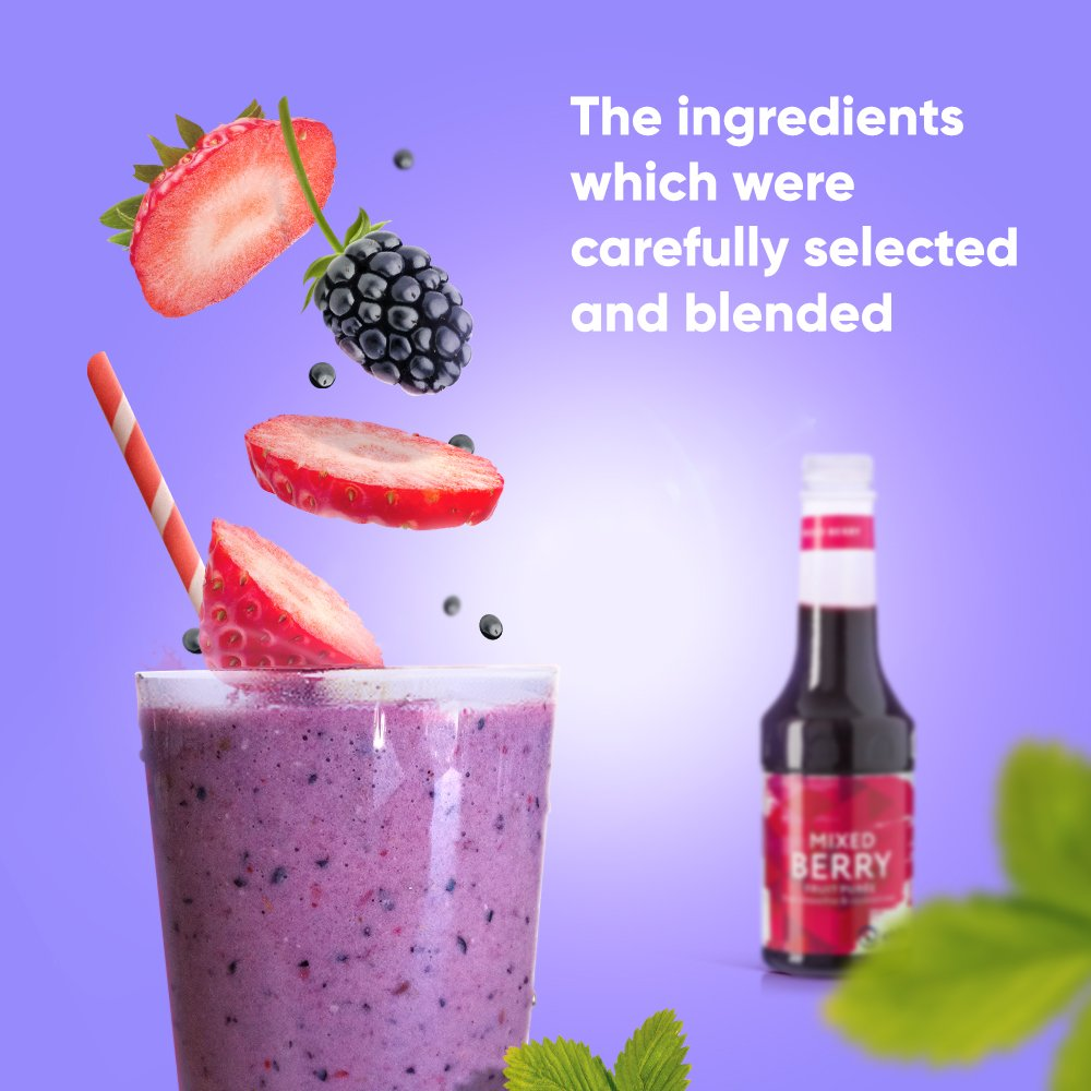 Chilla Syrup Flavor Bayas Mixtas para cócteles, batidos y postres ...