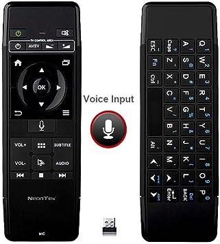 Batería 2.4 G control remoto inalámbrico Teclado/voz/aire ratón (todo en uno para Android caja de TV/Smart TV/Proyectores/Mini PC/todo en uno PC/Plug and Play con Universal USB Protocal): Amazon.es: Electrónica
