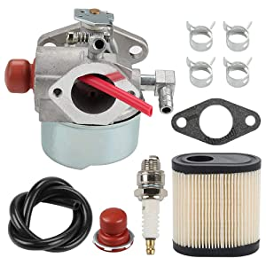 Hilom 640271 640303 640350 Carburetor with 36905 Air Filter Spark Plug & Gasket for Tecumseh LEV100 LEV105 LEV120 LV195EA LV195XA Toro Recycler Lawnmowers Engines
