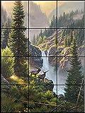Ceramic Tile Mural - Rivals in the Mist - MK- by Mark Keathly - Kitchen backsplash / Bathroom shower