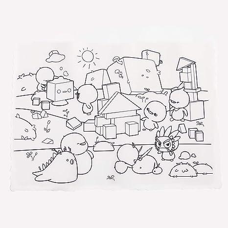 Alian Graffiti Pegatinas Adhesivas para niños-Cojín de relleno no tóxico del color de la