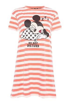 48daf1cd54f67 Femmes Chemise de Nuit Disney Mickey Mouse Do Not Disturb de Nuit pour  Filles et Femmes