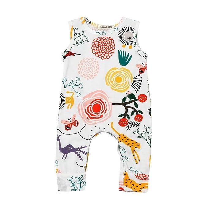LUCKDE Baby Strampler Overall Schlafanzug Jumpsuit Kinder M/ädchen Sommer Playsuit Bodysuit Babystrampler Unisex Babyschlafsack Babykleidung Baby Schlafstrampler Neugeborenen Geschenk