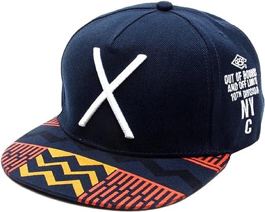 Malloom 2016 nuevo Hip-Pop letra X sombrero plano Baseball gorra ...