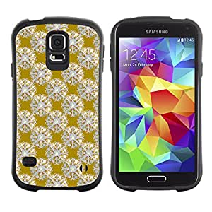 DesignCase Premium TPU / ABS Hybrid Back Case Cover Samsung Galaxy S5 V SM-G900 ( cute flower )