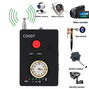 Hangang Multifunctional Anti-Spy Full-Range RF Wireless Signal Radio Detector Hidden Camera Auto-détection Tracer Finder Adjustable Sensitivity: Amazon.es: ...