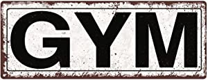 Gym Metal Street Sign, Rustic, Vintage