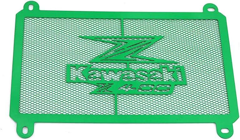 Kawasaki Z400 Motorrad Zubehör Kühler Kühlerabdeckung Kühlerschutz Ölkühler Radiator Motorräder Rostfreier Stahl Kühlerschutzgitter Kühlergitter Schutzgitter Wasserkühler Wasserkühlerschutz Grün Sport Freizeit