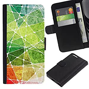 YiPhone /// Tirón de la caja Cartera de cuero con ranuras para tarjetas - Acuarelas - Apple Iphone 6 PLUS 5.5