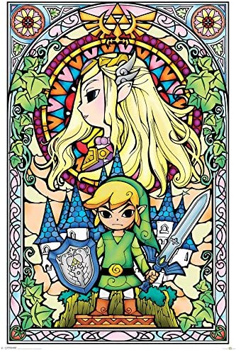 Legend of Zelda Poster Stained Glass 61x91.5cm