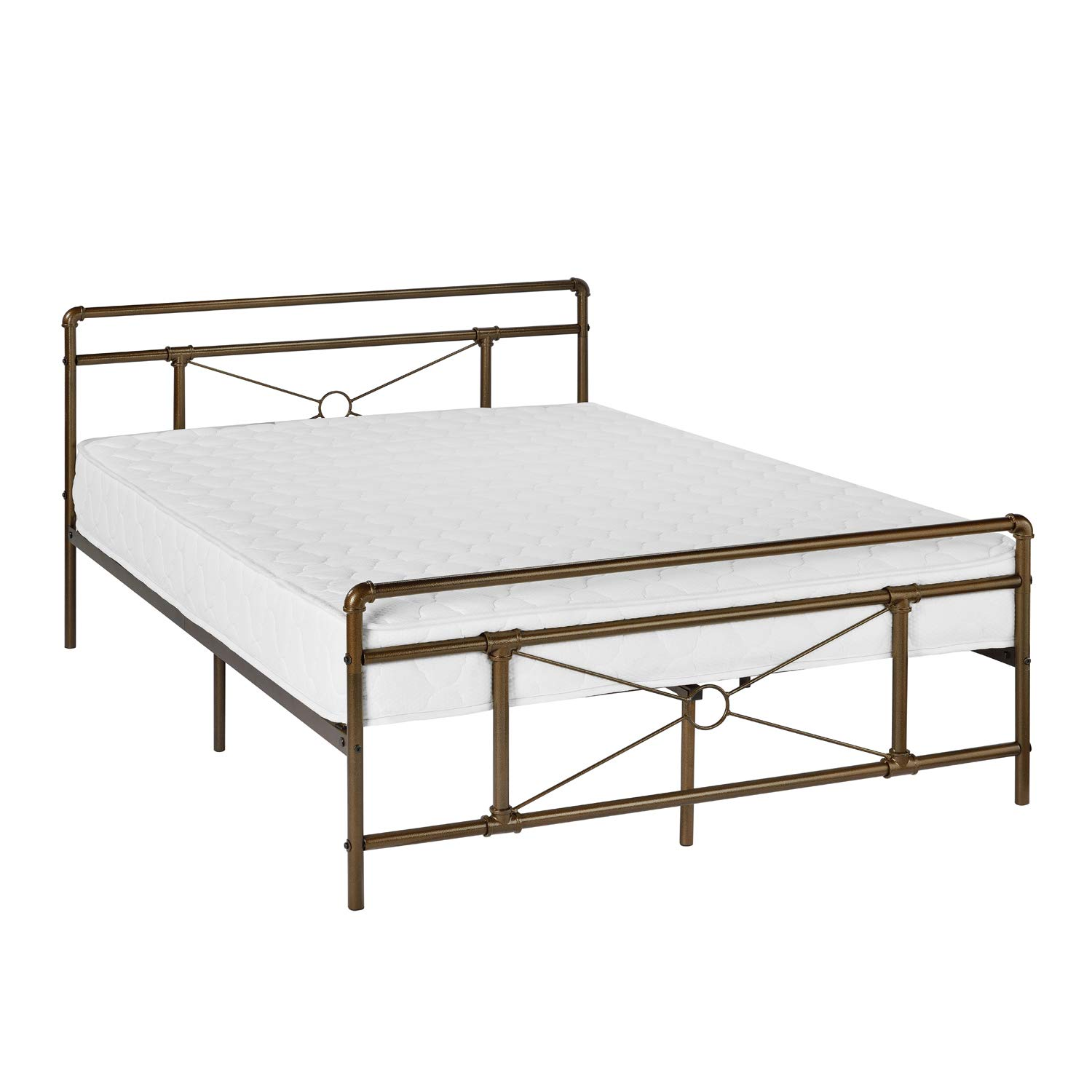 Amazoncom Greenforest Metal Bed Frame Bronze Full Size Platform