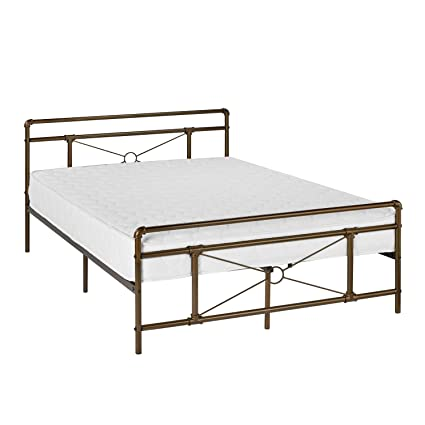 Amazoncom Greenforest Metal Bed Frame Bronze Full Size Platform