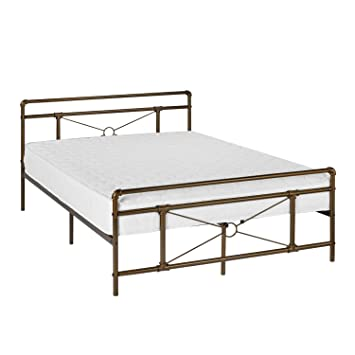 Amazon Com Greenforest Metal Bed Frame Bronze Full Size Platform