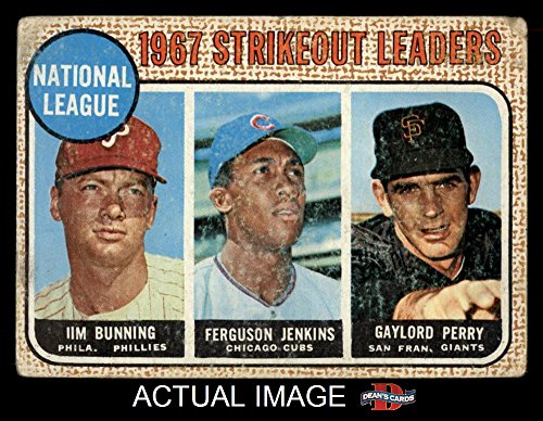 1968-topps-11-nl-strikeout-leaders-jim-bunning-ferguson-jenkins-gaylord-perry-phillies-cubs-giants-b