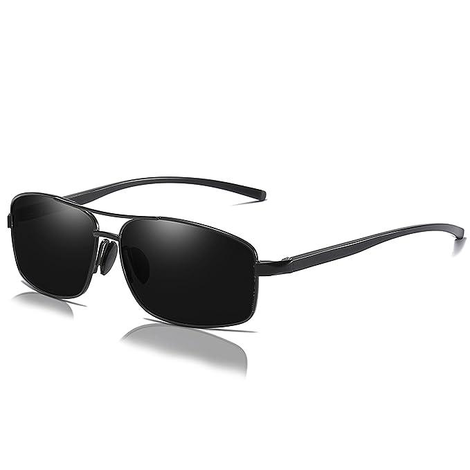 1f39752b46 Mens Womens Classic Retro Polarized Sunglasses Metal Frame 100% UV400  Protection Rectangular Sun Glasses for