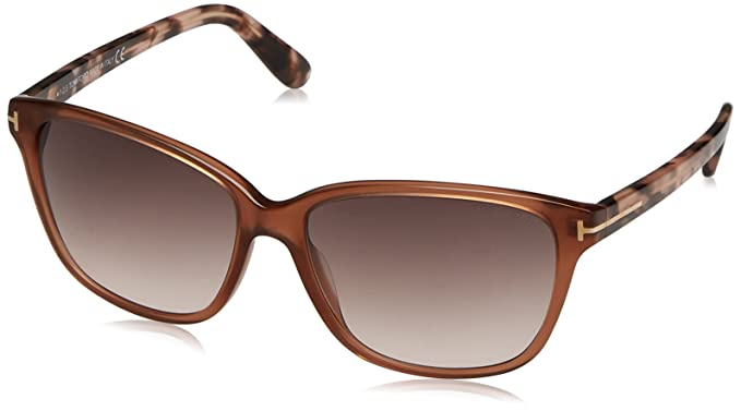 53350917e86 Amazon.com  Tom Ford FT0432 45F DANA Brown Rectangular Sunglasses ...