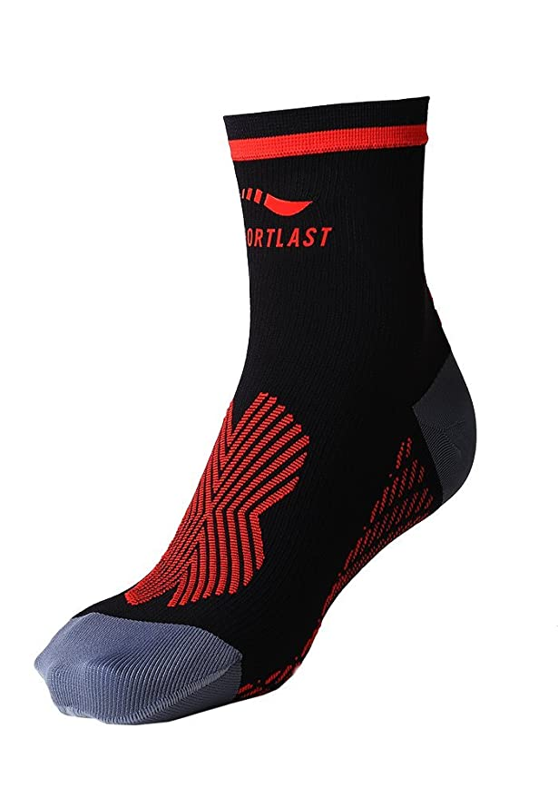Sportlast Pro Calcetines de Compresión, Negro/Rojo, L: Amazon.es: Deportes y aire libre