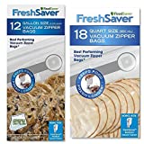 FoodSaver Freshsaver 18 Quart-sized and 12 Gallon-sized Vacuum Zipper Bags Bundle - BPA