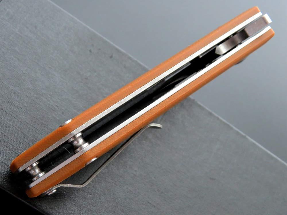 Eafengrow Pocket Knives D2 Blade G10 Handle Folding Camping Knife Mini Outdoor Pocket Knife Survival Tool (EF32-brown) by Eafengrow (Image #8)