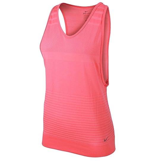 NIKE Women's Dri-Fit Gym Knit Training Tank Top-Pink Pow at Amazon Women's  Clothing store:
