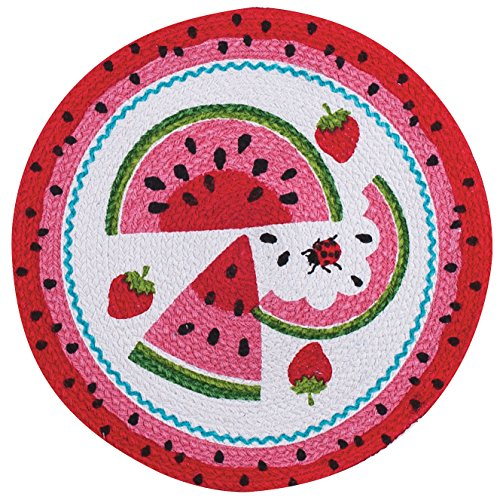 Kay Dee Designs R4027 R5274S Summer Fun Watermelon Braided Placemat, Set of 4