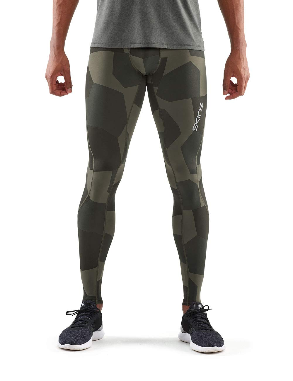 SKINS DNAmic Pour des hommes Long Tights petit Camo Utility Homme, FR   S (Taille Fabricant   S)
