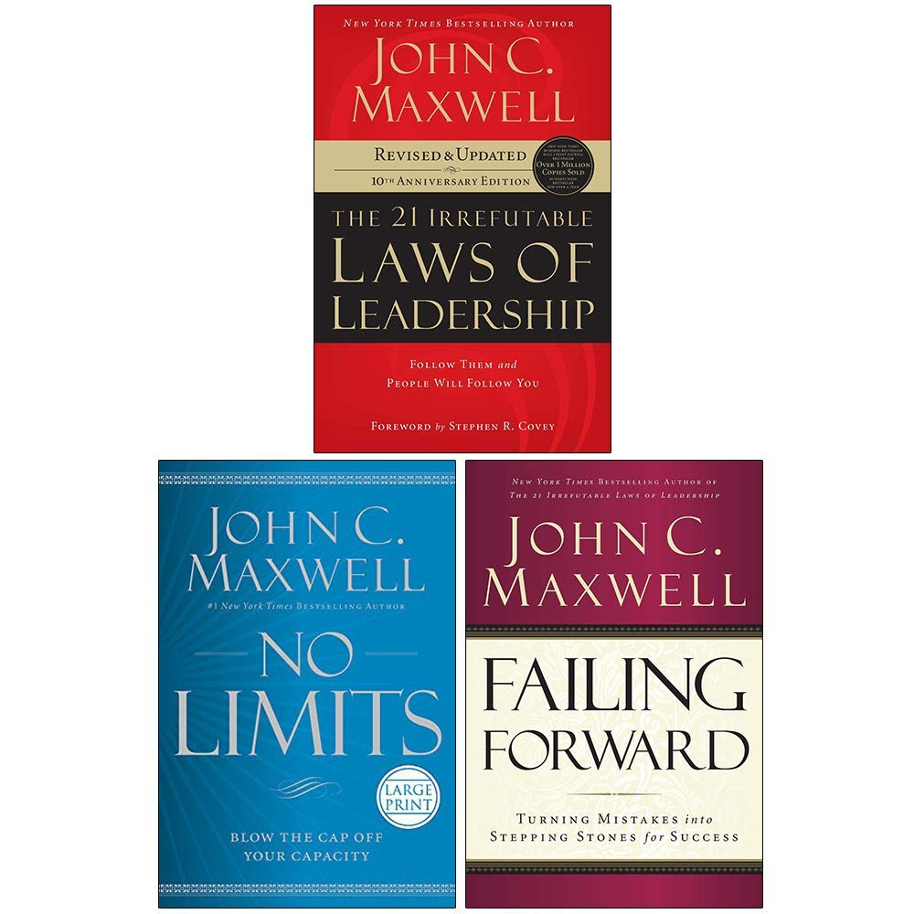 John Maxwell Collection 3 Books Set 21 Irrefutable Laws Of Leadership No Limits Hardcover Failing Forward John C Maxwell 21 Irrefutable Laws Of Leadership By John C Maxwell 978 0785289357 0785289356 9780785289357 No