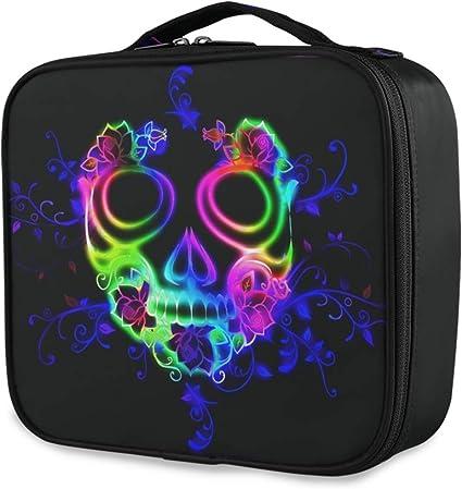 Viaje Almacenamiento Horror Cráneo colorido Fantasma Halloween Moda Neceser Bolsa de maquillaje Bolsa de herramientas Estuche de tren cosmético Portátil: Amazon.es: Belleza