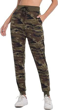JTANIB Jogger Pants for Women, Active Lounge Drawstring Waist Yoga Leggings Sweatpants with Pockets