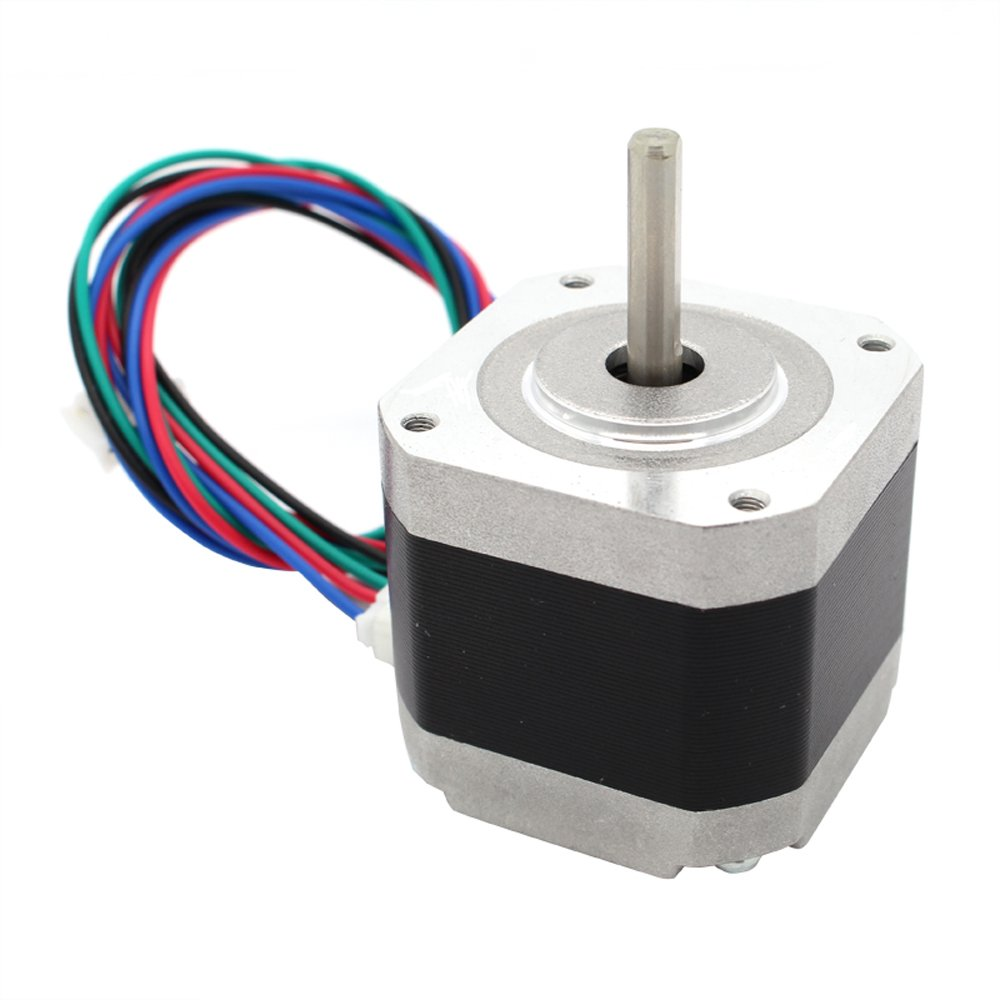 Iverntech Nema 17 Stepper Motor Bipolar 1.5A 400mN.m 2 Phase 4 Wires 1.8 /° for 3D Printer or CNC Machine with 50cm Motor Wire AW002