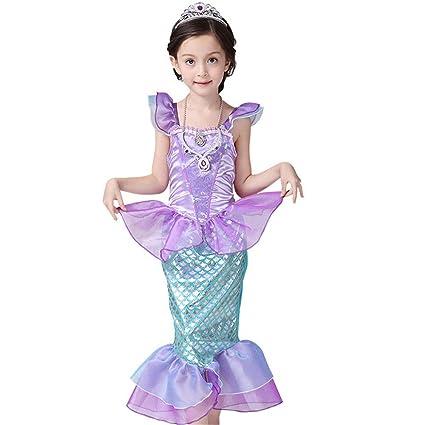 BaronHong Little Mermaid Ariel Traje Traje de baño Niñas ...