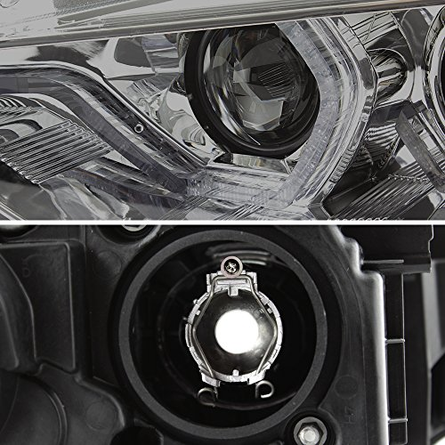 For BMW F30 3-Series 4 Doors Sedan Smoked Lens Factory Halogen Type Dual U-Halo Ring LED Projector Headlights