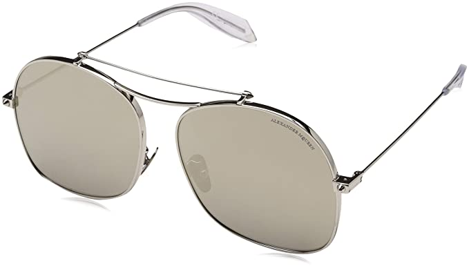 Amazon.com: Alexander McQueen anteojos de sol am 0088 S- 005 ...