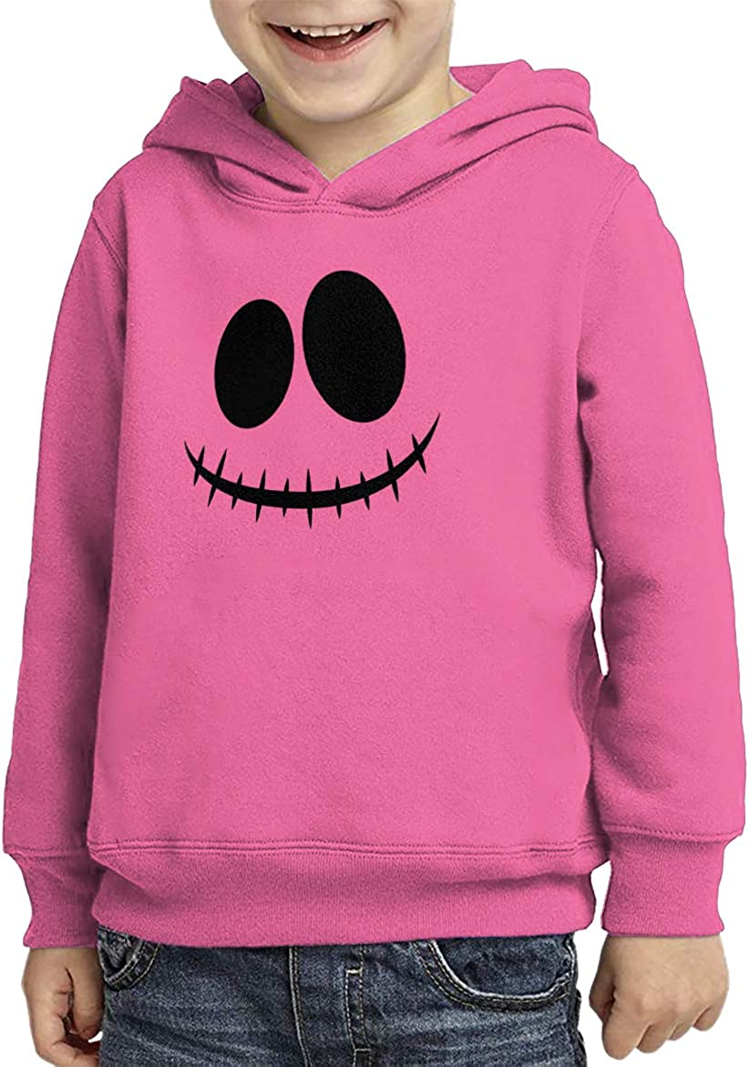 Haase Unlimited Skeleton Face Skull Scary Spooky Toddler//Youth Fleece Hoodie