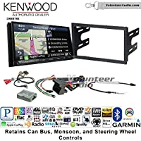 Volunteer Audio Kenwood DNX874S Double Din Radio Install Kit with GPS Navigation Apple CarPlay Android Auto Fits 2003-2005 Volkswagen Golf, Jetta, Passat with Amplified Systems