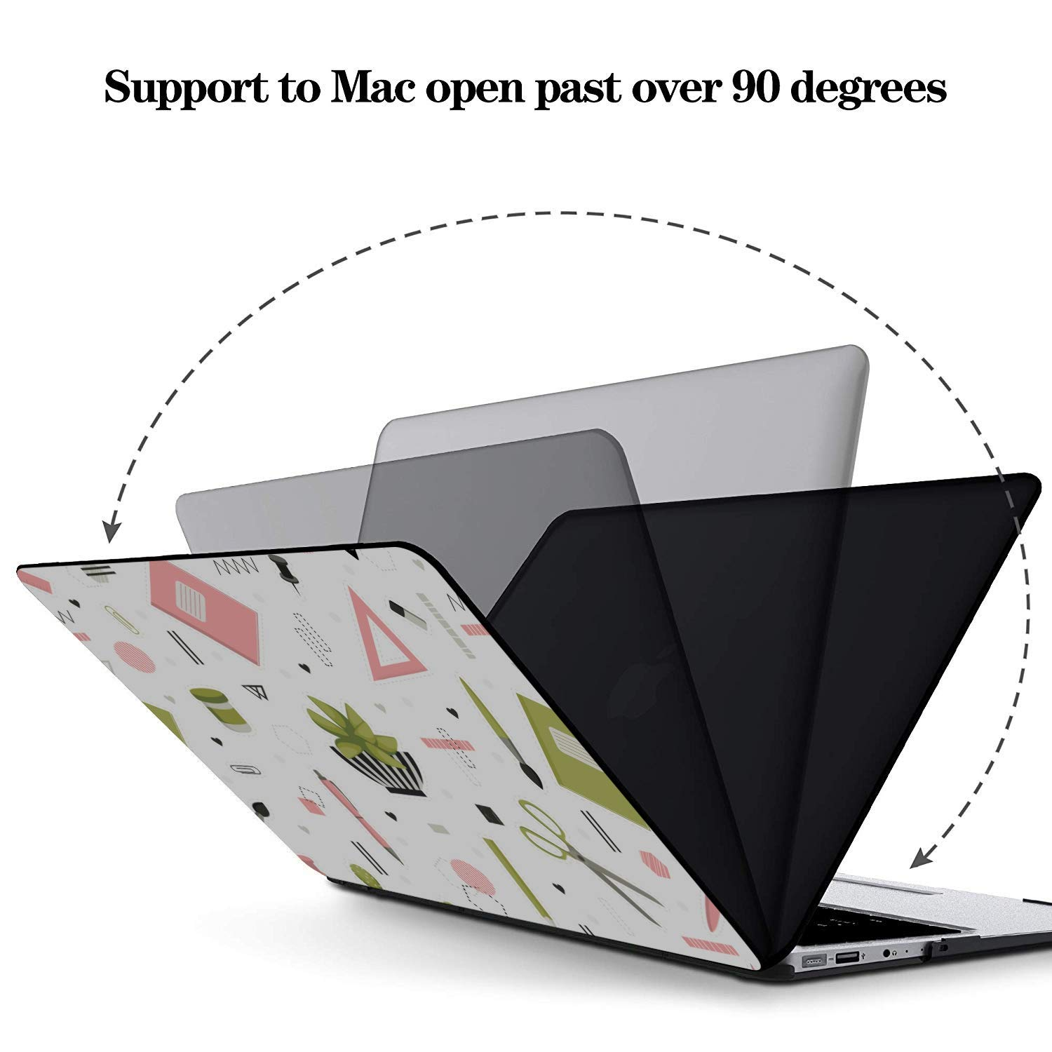 MacBook Pro 13inch Case School Creative Art Fashion Pen Writing Plastic Hard Shell Compatible Mac Air 11 Pro 13 15 MacBook Assessories Protection for MacBook 2016-2019 Version