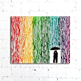 Melted Crayon Art, Rainbow Painting, Lesbian Wedding Gift 16''x20'' Canvas