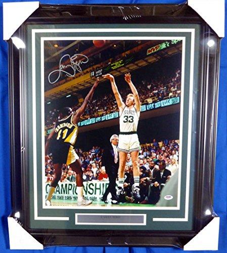 Larry Bird Autographed Framed 16x20 Photo Boston Celtics ()